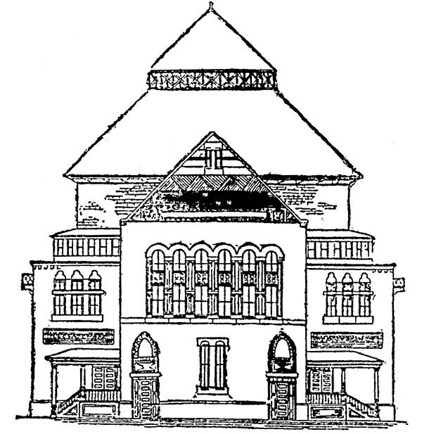 Colonial Houses Coloring Pages