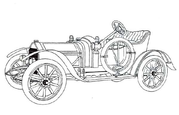 old fashioned cars coloring pages - photo#15