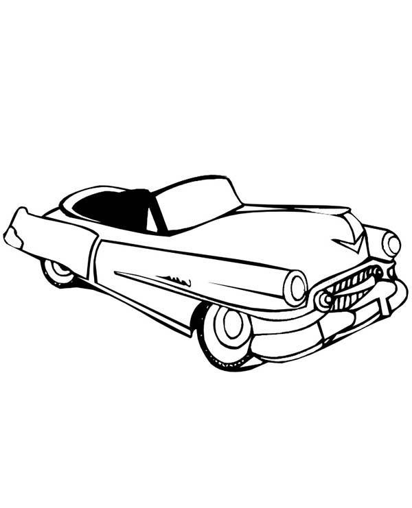 Convertible old car coloring page convertible old car for Convertible car coloring pages