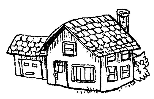 County School House Coloring Page Coloring Sky
