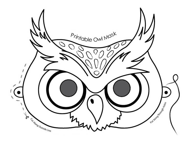 cute owl mask coloring page cute owl mask coloring page