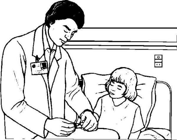 Doctor Control Patient Medical Condition Coloring Page ...