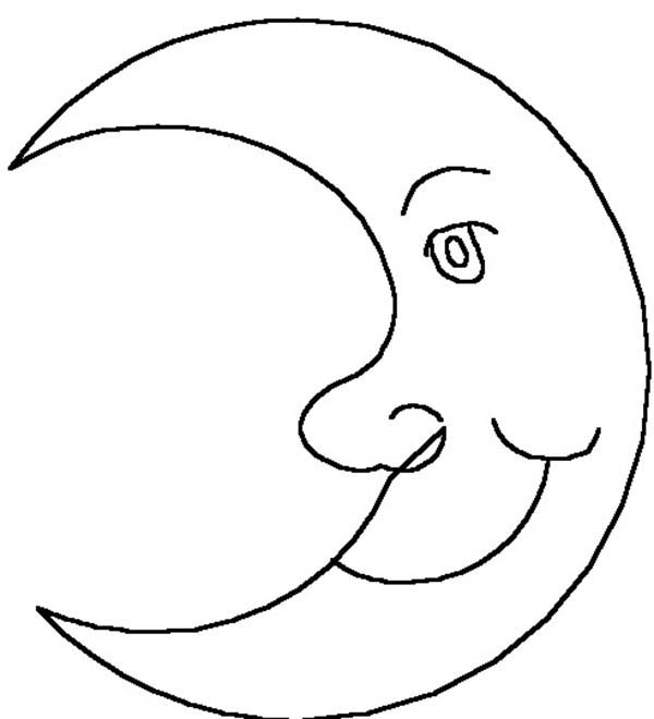 Drawing Moon Coloring Page
