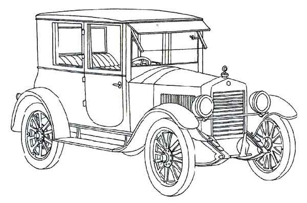 Essex Coach Classic Old Car Coloring Page