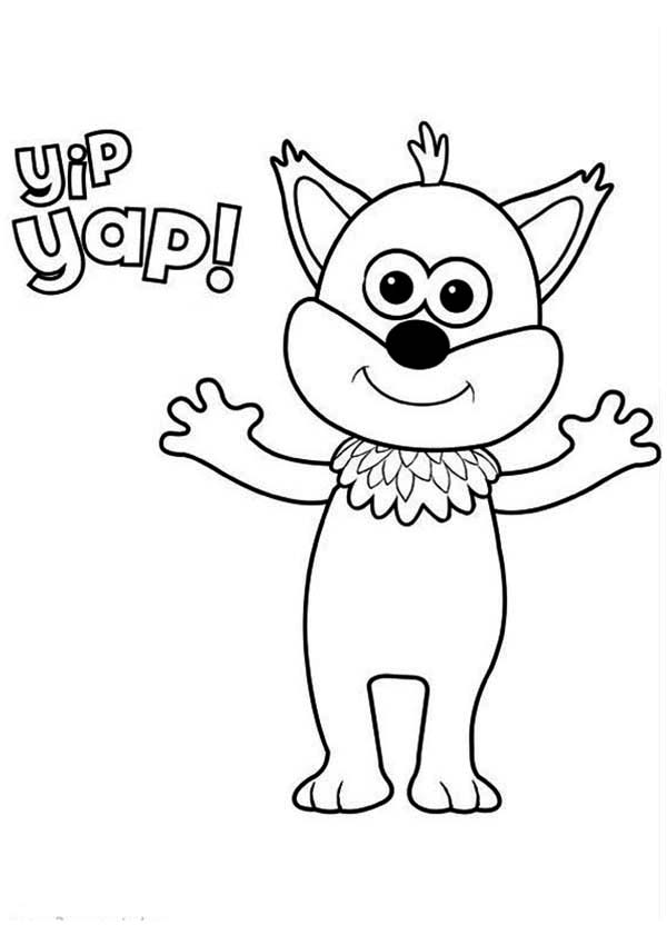 Finlay the Badger Cub from Timmy Time Coloring Page | Coloring Sky