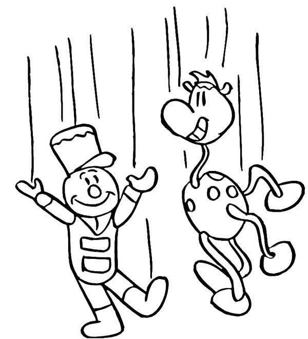 Puppet free coloring pages for Puppet coloring pages