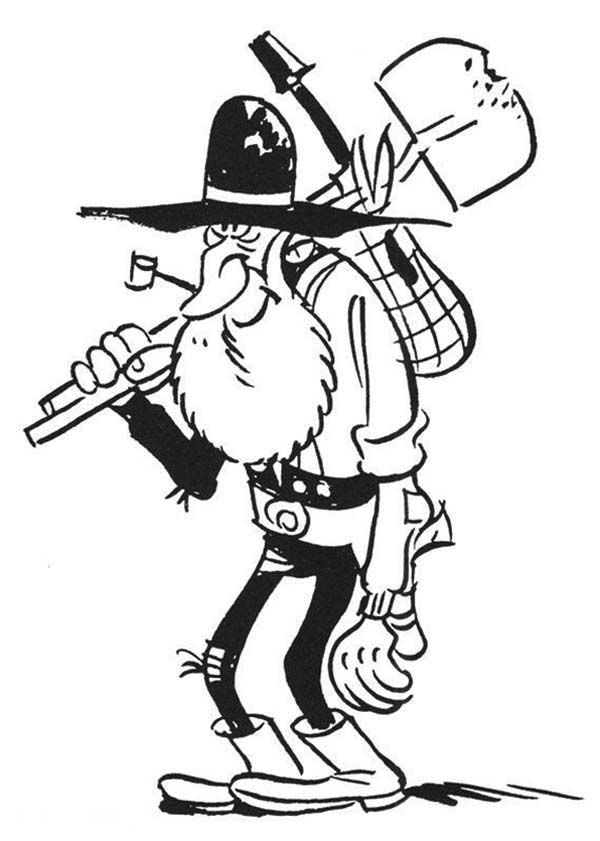 grave digger lucky luke coloring page
