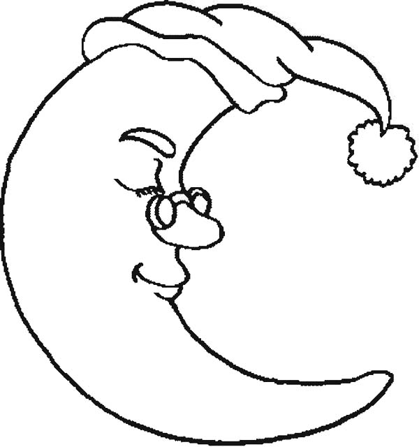 half moon coloring pages half moon wearing glassess coloring page coloring sky