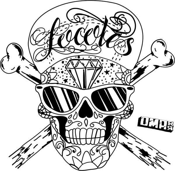 Hip Hop Skull Face Paint