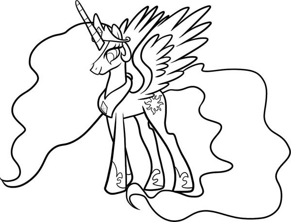 How To Draw Celestia From My Little Pony Coloring Page