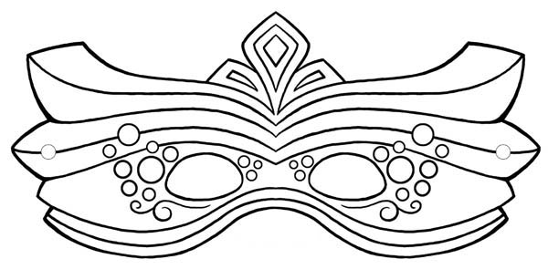 How to Draw Mardi Gras Mask Coloring Page  Coloring Sky