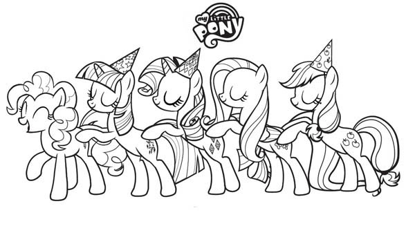 How to Draw My Little Pony Coloring Page Coloring Sky