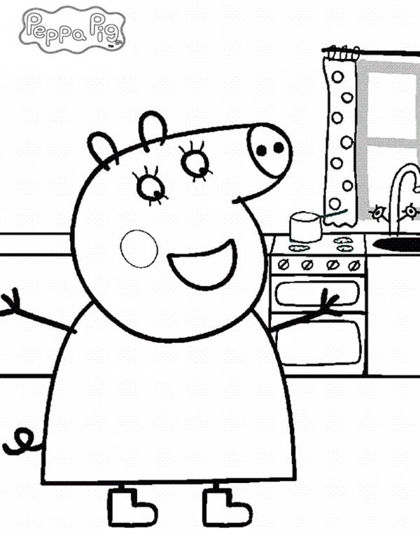 Peppa pig how to draw peppa pig coloring page how to draw peppa pig