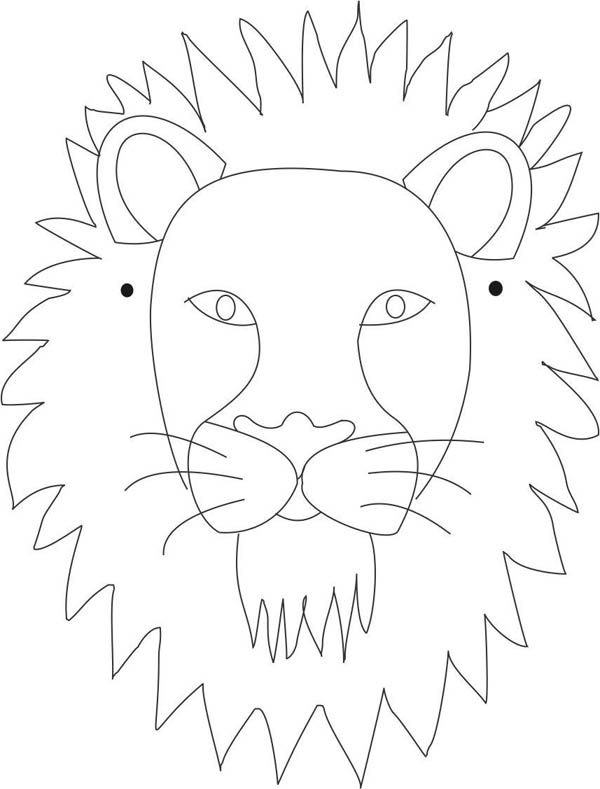 lion mask coloring page african lion face coloring sheet coloring pages