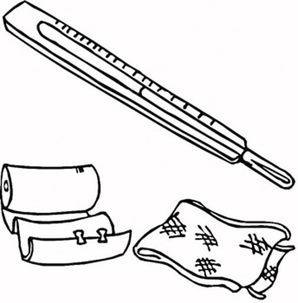 Medical First Aid Package Coloring Page | Coloring Sky