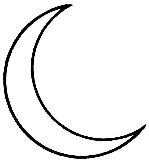 Moon Coloring Page for Kids Coloring Sky