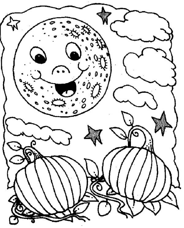 holloween moon coloring pages - photo#27