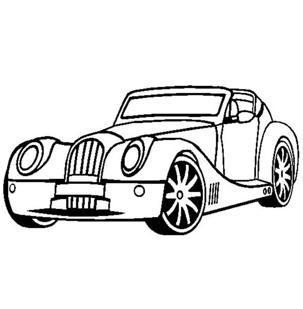 morgan aero supersports old car coloring page