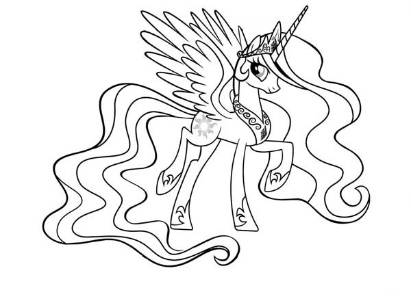My Little Pony Princess Celestia Coloring Page My Little