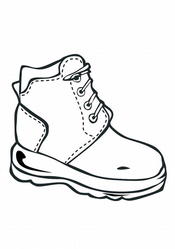 Nike Shoes Coloring Page | Coloring Sky