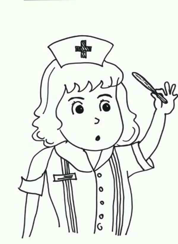 Medical thermometer coloring pages