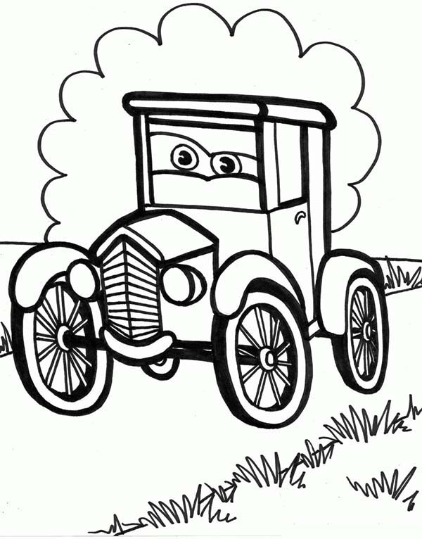 old car cartoon picture coloring page