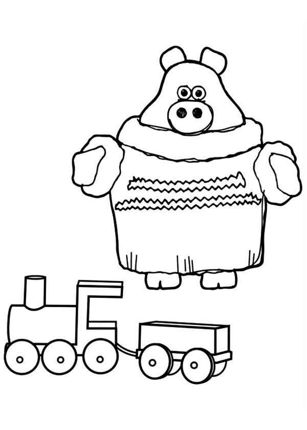 Paxton the Piglet Play with His Train Model in Timmy Time Coloring ...