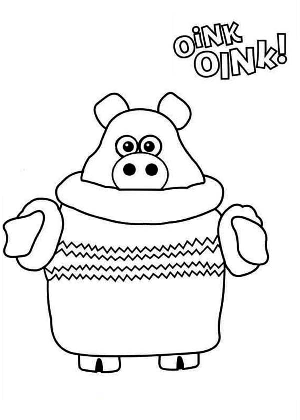 Paxton the Piglet from Timmy Time Coloring Page | Coloring Sky