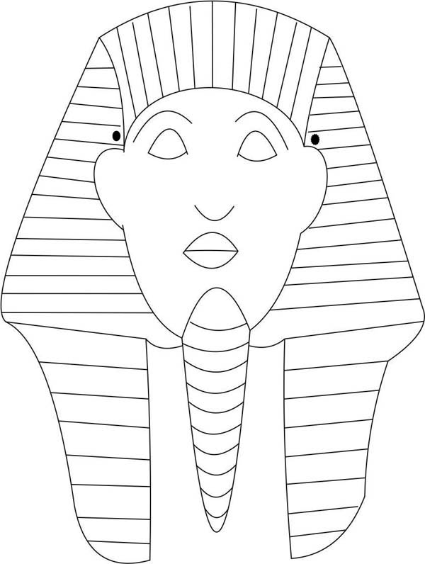 Pharaoh coloring pages for Egyptian masks templates
