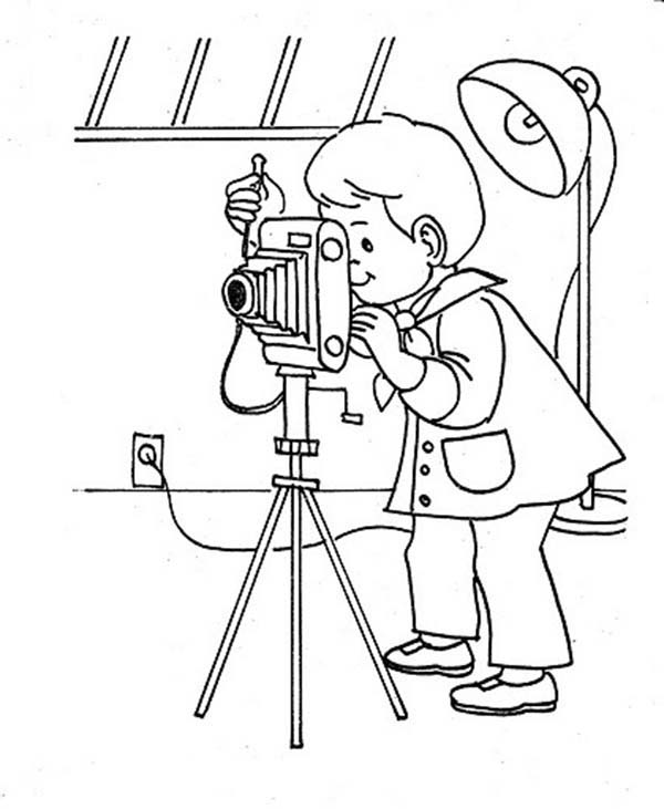 photography studio coloring page