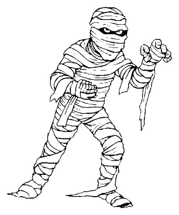 Picture of Scary Mummy Coloring Page Coloring Sky