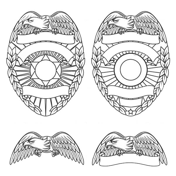 police badge coloring page - pin police badge colouring pages on pinterest