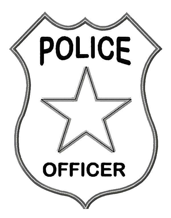 Police Officer Badge Coloring Page Coloring Sky