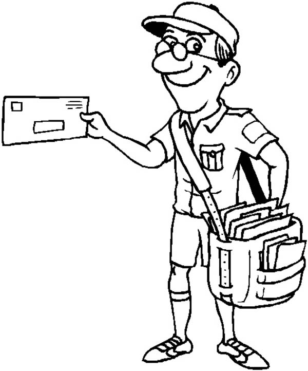 mail truck coloring pages - photo#21