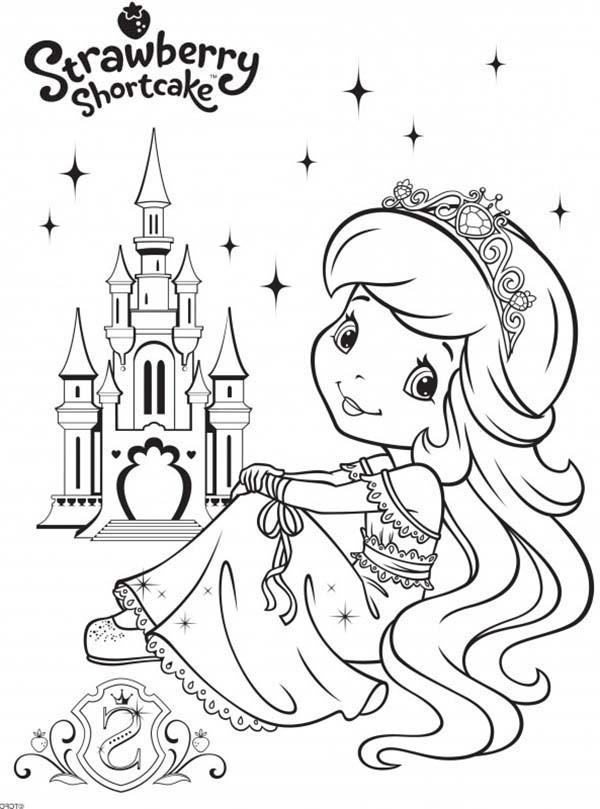 princess of strawberryland strawberry shortcake coloring page