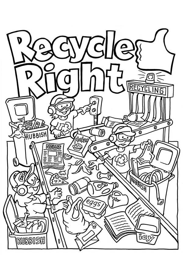 recycling coloring sheets - Mersn.proforum.co