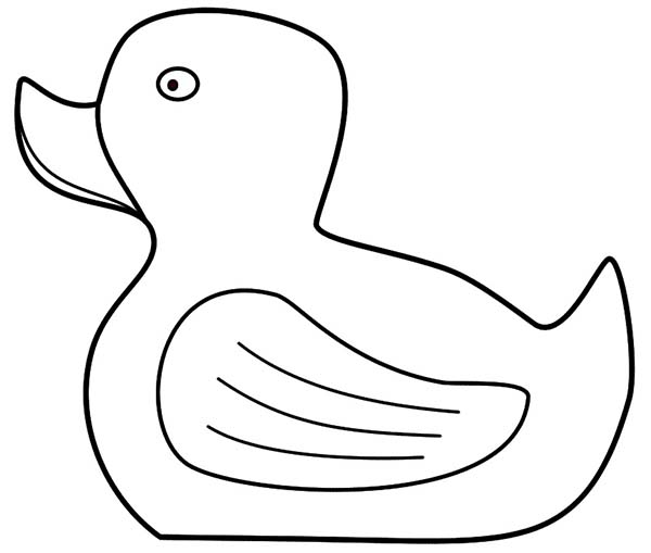 Rubber Ducky Sad Face Coloring Page
