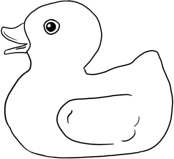 Rubber Ducky Singing Coloring Page
