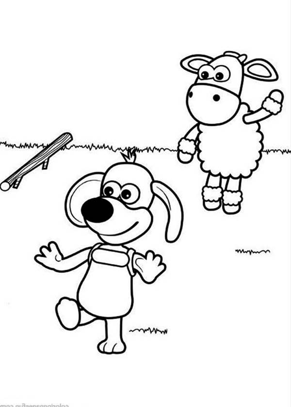 Ruffy the Puppy Chase Wooden Stick Throw by Timmy in Timmy Time ...