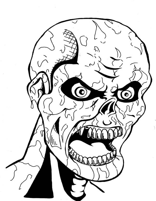 Scary Ancient Mummy Coloring Page Coloring Sky
