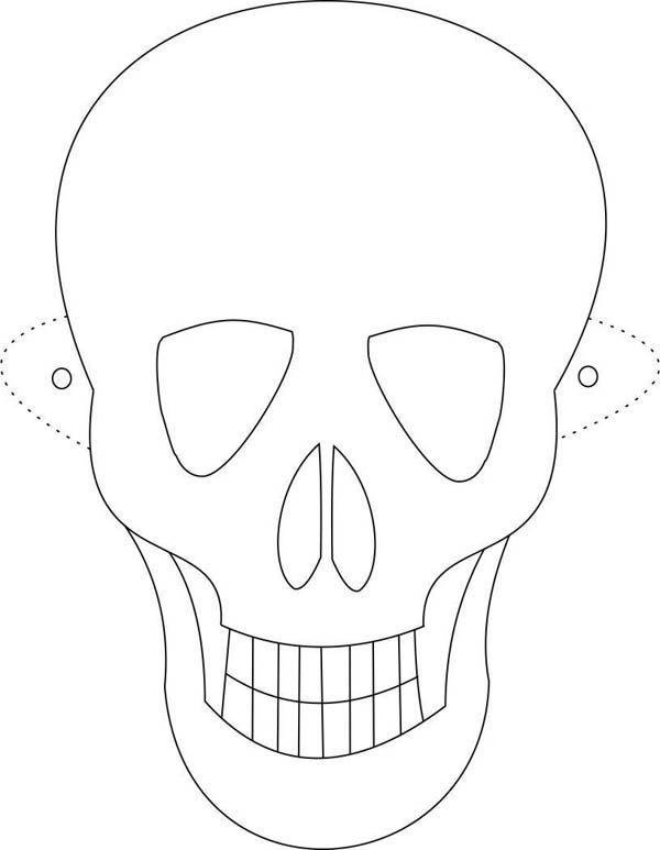 death mask coloring pages - photo#29