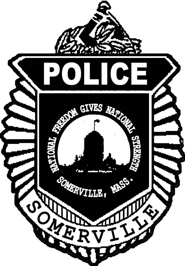 Somerville Police Badge Coloring Page Coloring Sky