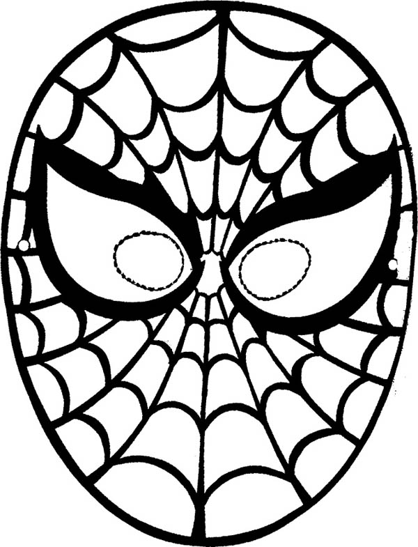 coloring pages spiderman masks - photo#17