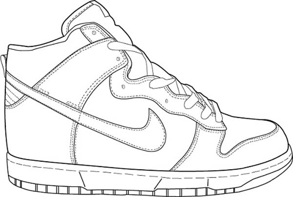 Sporty Shoes Coloring Page Coloring Sky