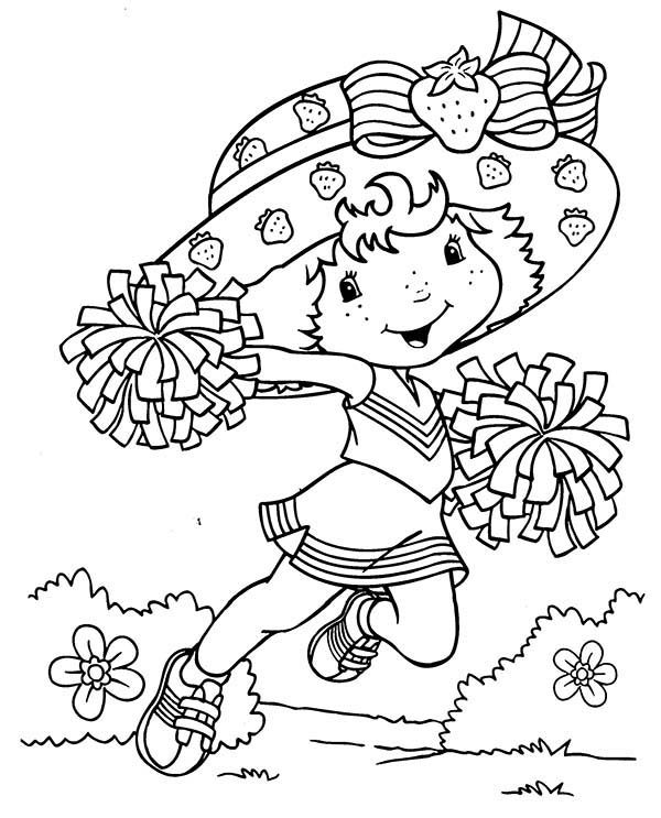 strawberry shortcake want to be a cheerleader coloring page with coloring pages of strawberry shortcake