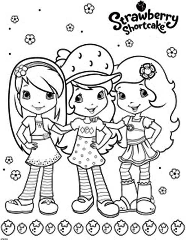 Strawberry Shortcake and Friends Coloring Page: Strawberry Shortcake ...