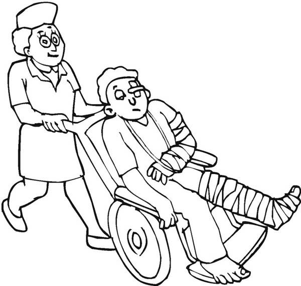 this kid need medical help right away coloring page - Aid Coloring Pages Kids