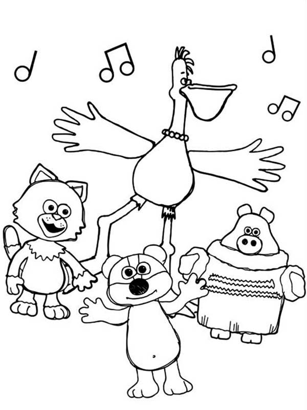 Timmy Time Singing Together with All Friends Coloring Page ...