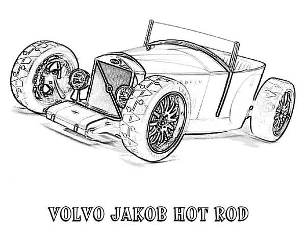 Volvo Jakob Hot Rod Old Car Coloring Page Coloring Sky