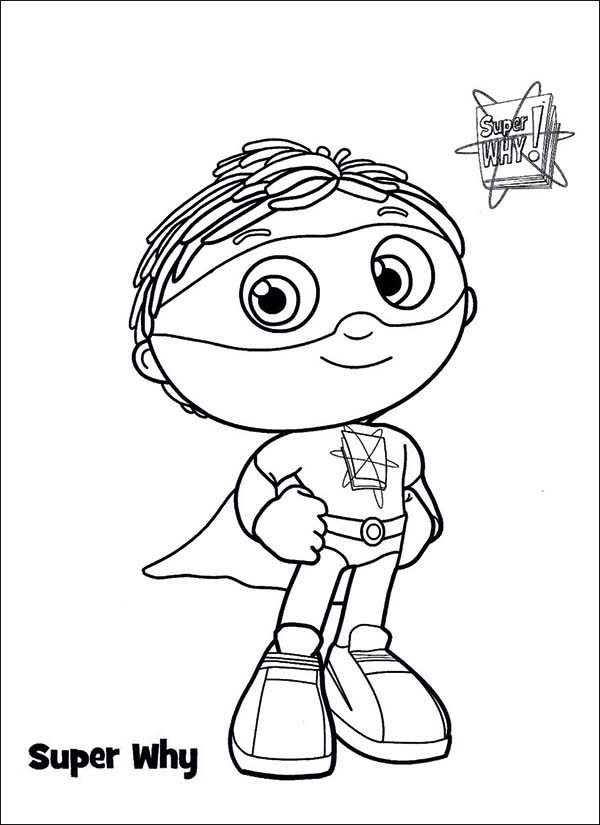 Super why coloring pages red